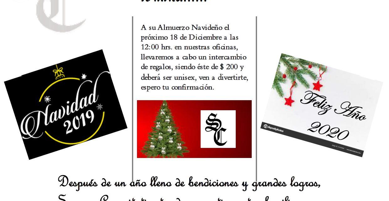 Sumun Capacitatis te Invita a su almuerzo navideño el 18 de diciembre a las 12 del día.