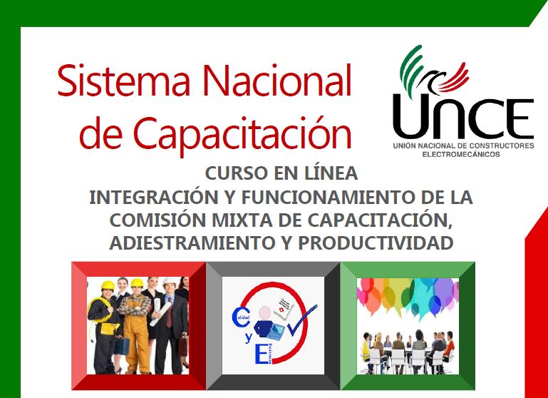 Curso en línea: Integración y funcionamiento de la comisión mixta de capacitación, adiestramiento y productividad